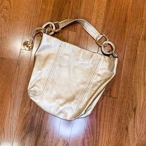 Michael Kors Gold Purse with Gold Embellishments